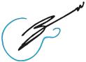 BryanWade.com Guitar Logo